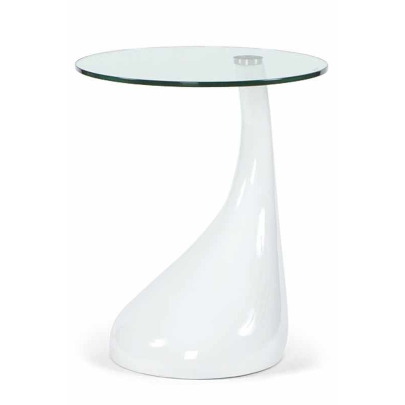 Table d 39 appoint design music blanche for Table basse d appoint