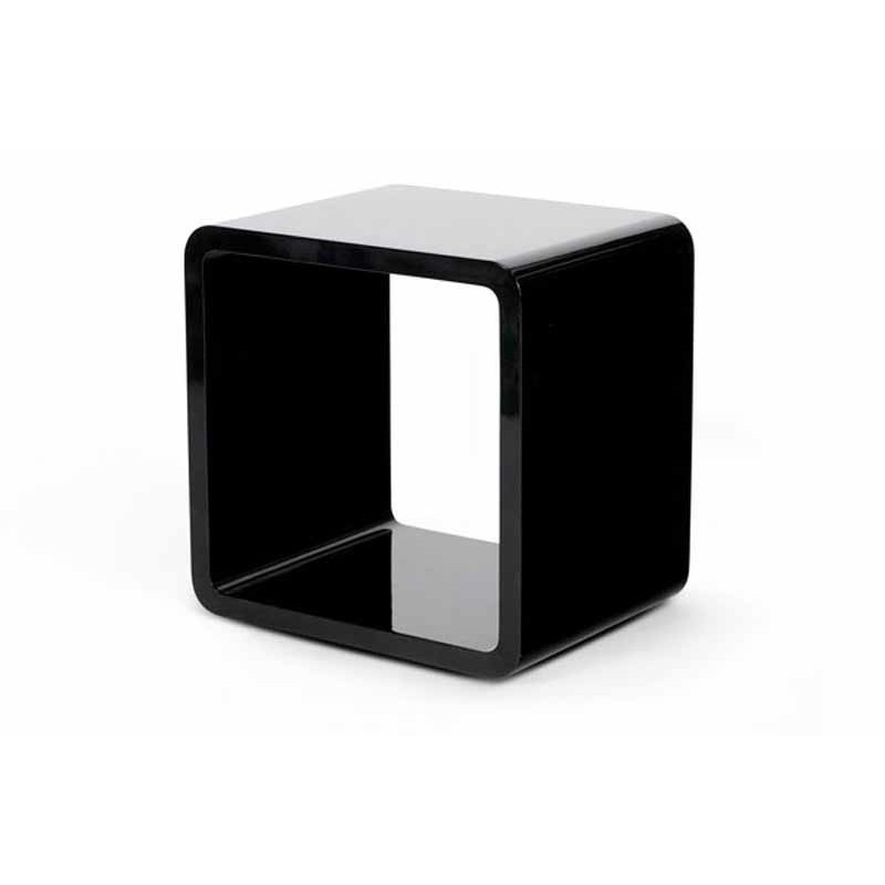 Table basse design kubi noire - Table basse noire design ...