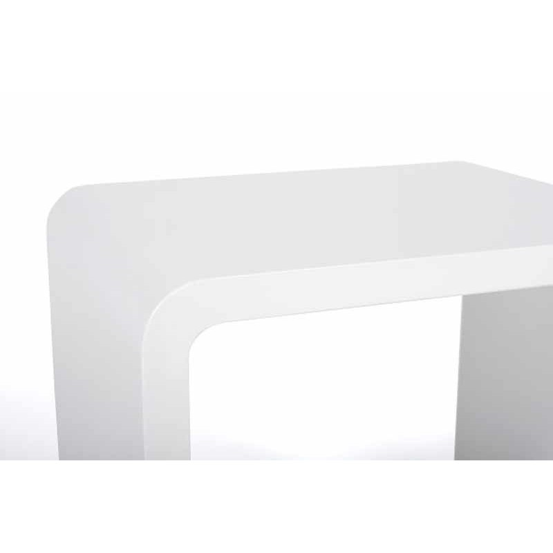 Table basse design kubi blanche for Table blanche design