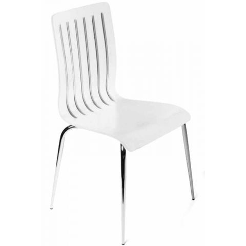 Chaise design Wood Blanche