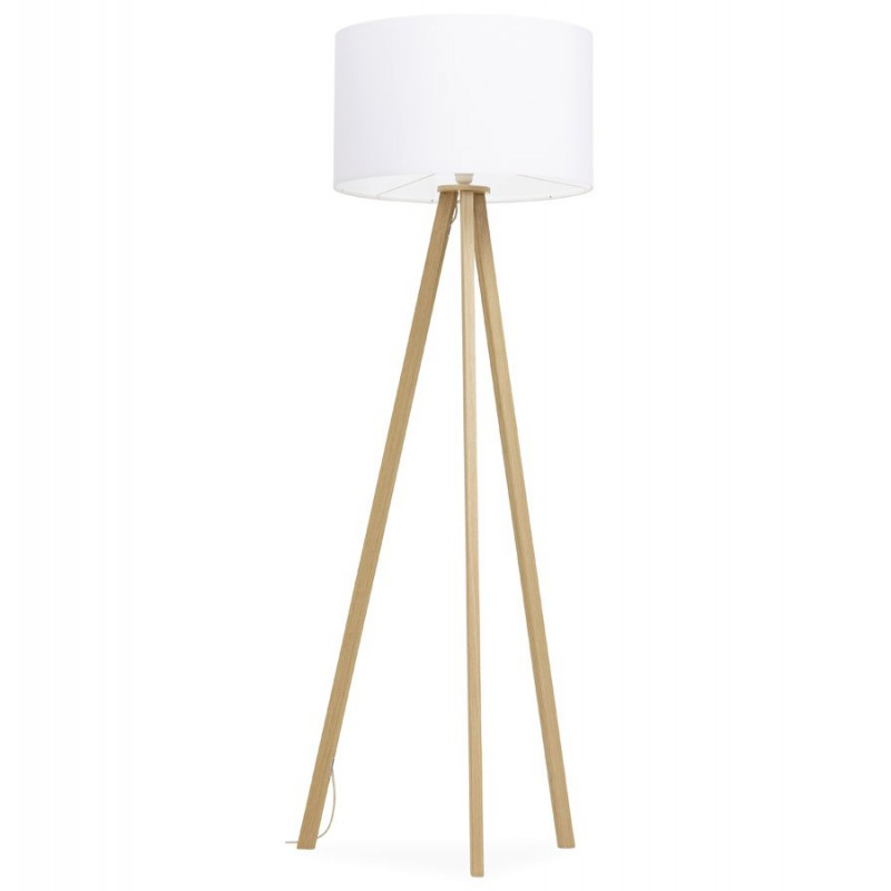 lampadaire tr pied fidelio naturel blanc. Black Bedroom Furniture Sets. Home Design Ideas