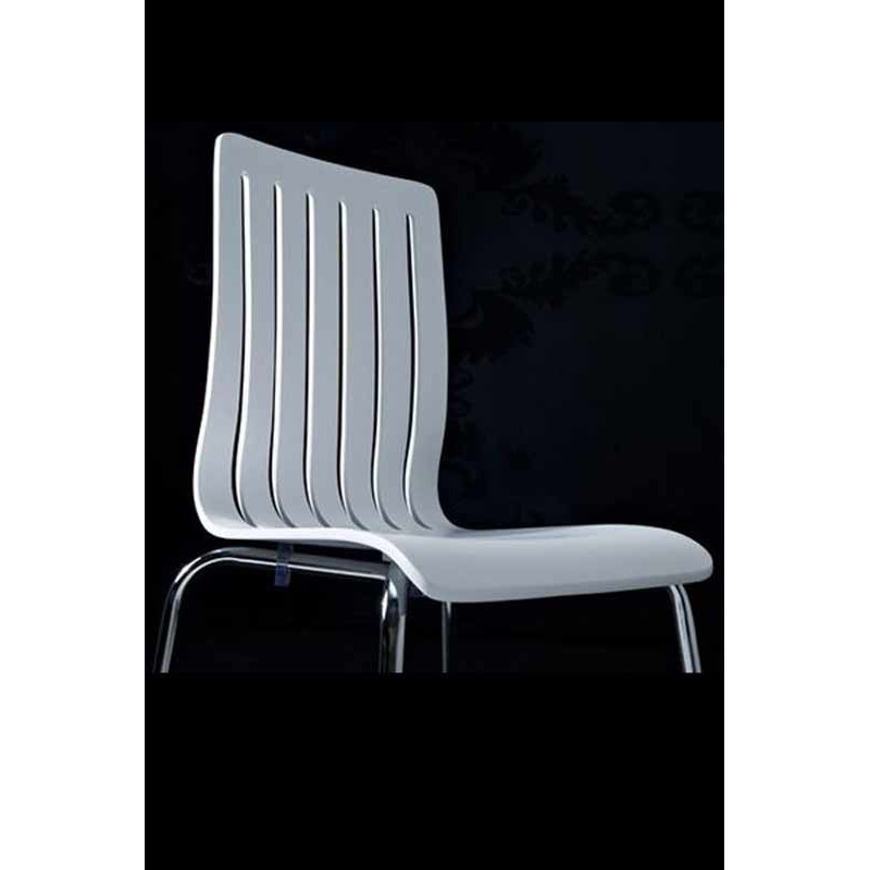 Chaise design wood blanche for Chaise design blanche