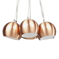 "Lampe Suspension ""Grappe"" Cuivre"