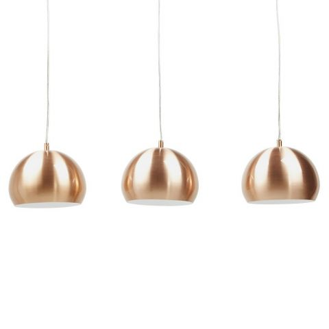 Lampe suspension 3 boules kor cuivre - Lampe suspension boule ...