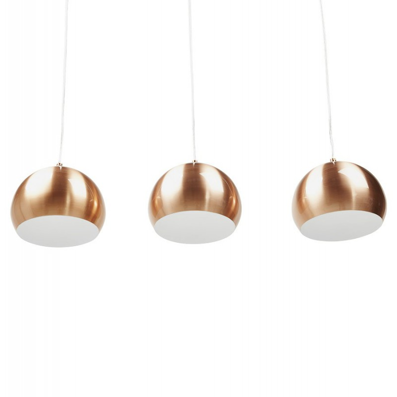 lampe suspension 3 boules kor cuivre. Black Bedroom Furniture Sets. Home Design Ideas