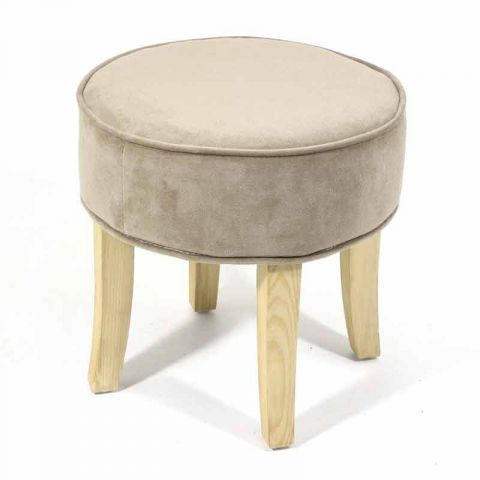 "Tabouret en velours ""Naturel"""