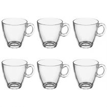 "Lot de 6 Mugs en Verre ""Sia"" 21cl Transparent"