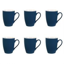 "Lot de 6 Mugs Soft Touch ""Siama"" 30cl Bleu"