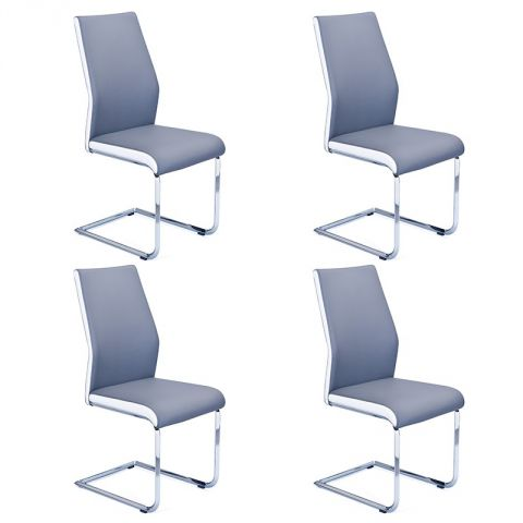 "Lot de 4 Chaises Design ""Brant"" Gris"