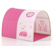 "Tunnel De Lit Enfant ""Pino Princesse"" 10cm Rose"