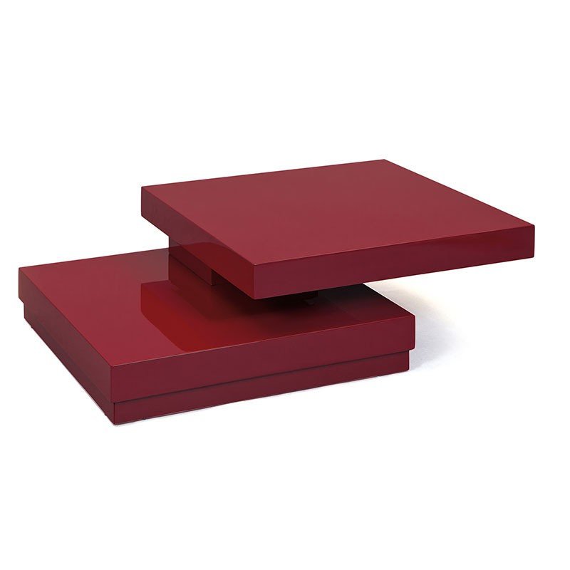 Table basse carr e pivotante serena rouge - Table basse pivotante ...