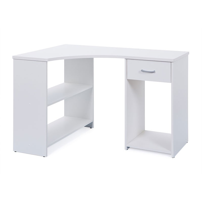 bureau d 39 angle nael blanc. Black Bedroom Furniture Sets. Home Design Ideas