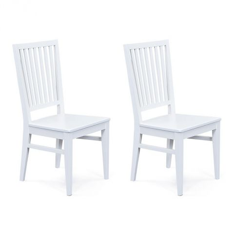 "Lot de 2 Chaises Design ""Chloé"" Blanc"