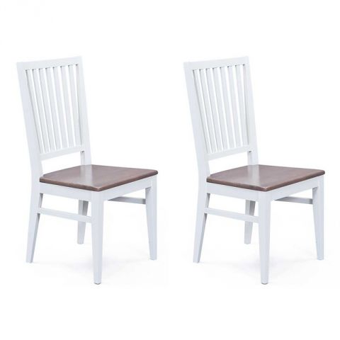 "Lot de 2 Chaises Design ""Chloé"" Brun"
