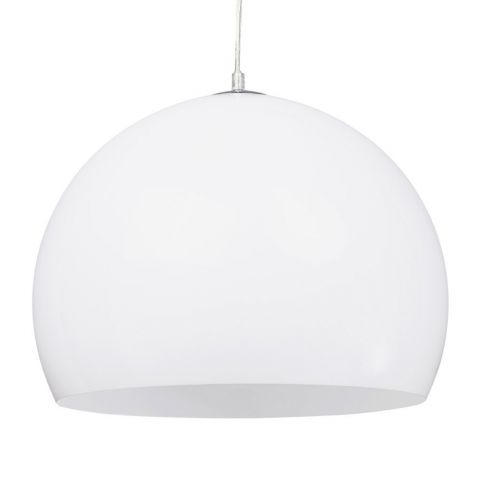 "Lampe Suspension Boule ""Bibury"" Blanche"