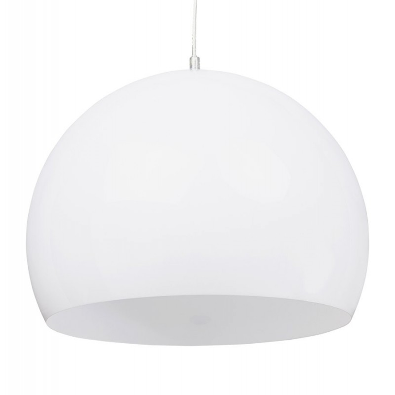 Lampe suspension boule bibury blanche for Lampe suspension blanche