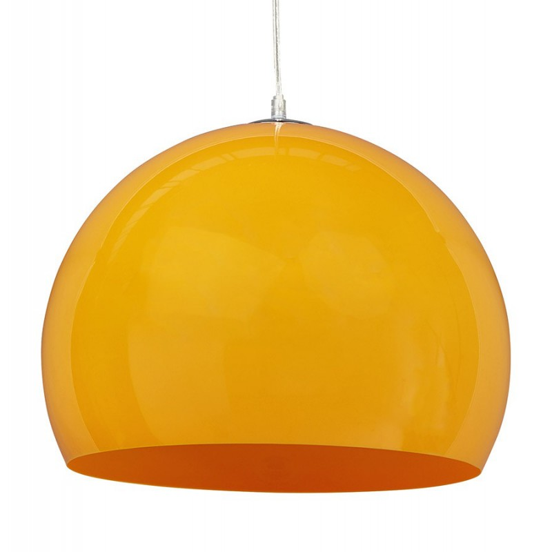 Lampe suspension boule bibury jaune - Lampe suspension boule ...