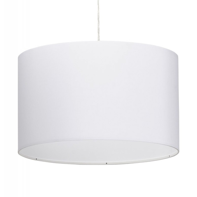 lampe suspension avec abat jour fidelio 50cm blanc. Black Bedroom Furniture Sets. Home Design Ideas