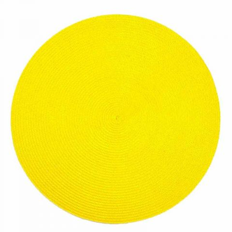 Set de Table Rond 38cm Jaune