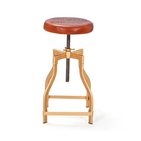 "Tabouret de Bar Métal ""Ino"" Or"