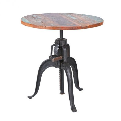 "Table de Bar Ajustable ""Rusty"" Marron"