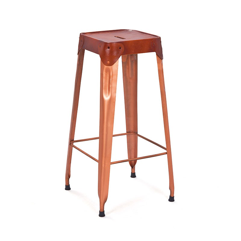 lot de 2 tabouret de bar rusty 75cm cuivre. Black Bedroom Furniture Sets. Home Design Ideas