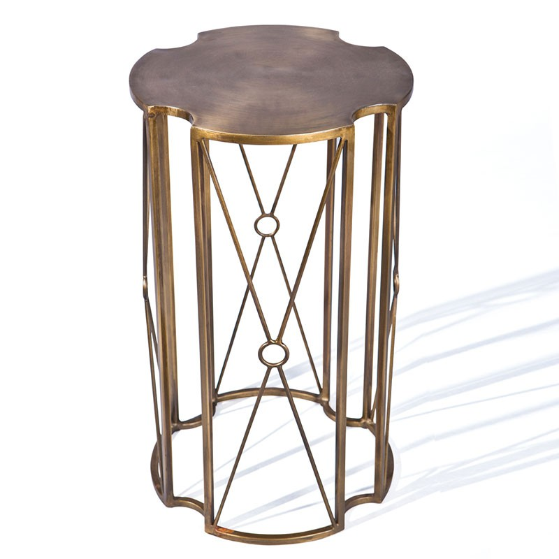 Table d 39 appoint m tal giovanni bronze - Table d appoint metal ...