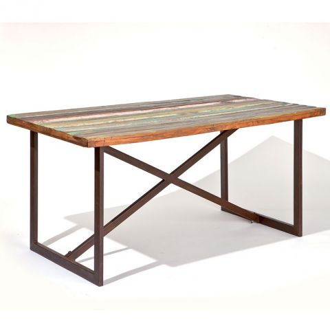 "Table de Salle à Manger ""Spring"" 160cm Marron"