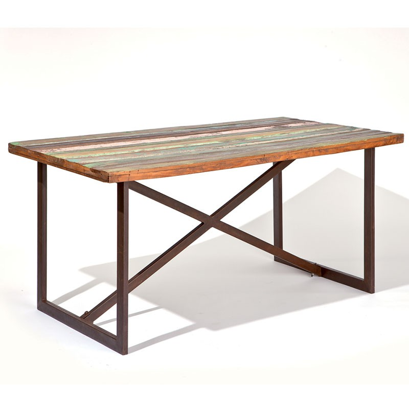 Table de salle manger spring 160cm marron for Table de salle a manger 160 cm