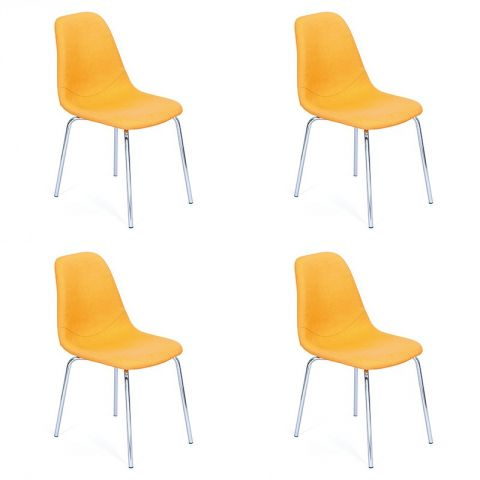 "Lot de 4 Chaises Design ""Pulp"" Jaune"