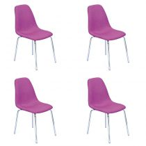 "Lot de 4 Chaises Design ""Pulp"" Violet"