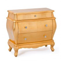 "Commode 3 Tiroirs ""Handel"" Or"