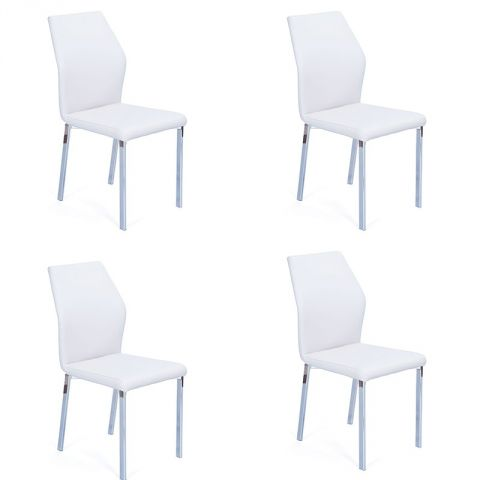"Lot de 4 Chaises Design ""Mona"" Blanc"