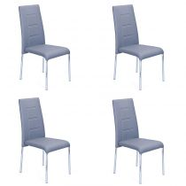 "Lot de 4 Chaises Design ""Mona"" Bleu"