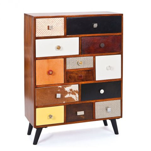 "Commode 13 Tiroirs ""Colorado"" Marron"
