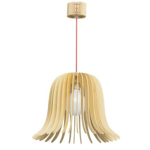 "Lampe Suspension Bois ""Dana"" Beige"