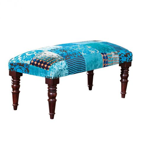 """Banquette """"Odie"""" Turquoise"""