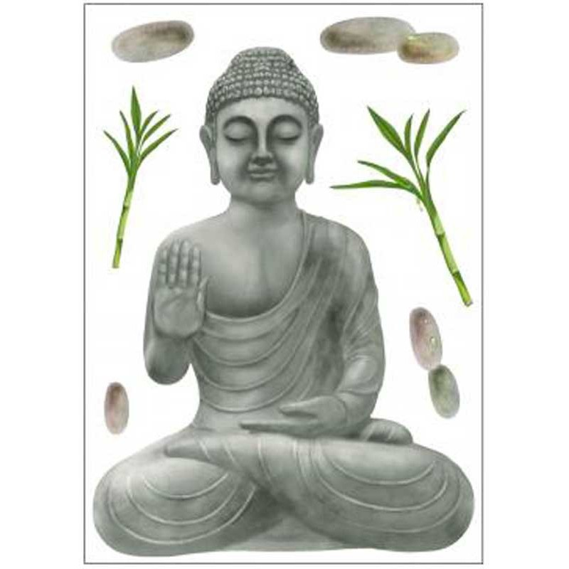 stickers 50x70 zen bouddha. Black Bedroom Furniture Sets. Home Design Ideas