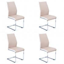 "Lot de 4 Chaises Design ""Brant"" Beige"
