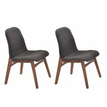 "Lot de 2 Chaises ""Jenja"" Gris"