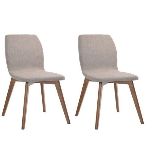 "Lot de 2 Chaises ""Kenaz"" Gris"