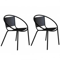 "Lot de 2 Chaises Design ""Sully"" Noir"