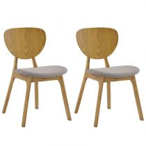 "Lot de 2 Chaises ""Yoka"" Naturel"