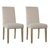 "Lot de 2 Chaises ""Cleva"" Beige"