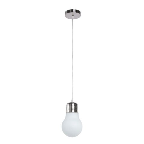"Lampe Suspension Métal ""Eurêka"" Blanc"