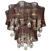 "Lampe Suspension ""Héloise"" 50cm Marron"