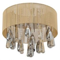 "Lampe Suspension ""Pizan"" Beige"