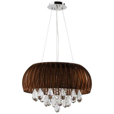 "Lampe Suspension ""Forza"" 54cm Marron"