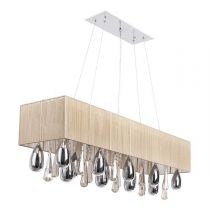 "Lampe Suspension ""Elyssa"" Beige"