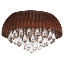 "Lampe Suspension ""Musa"" Marron"